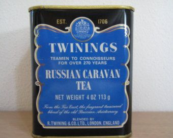 Vintage Twinings Russian Caravan Tea Tin