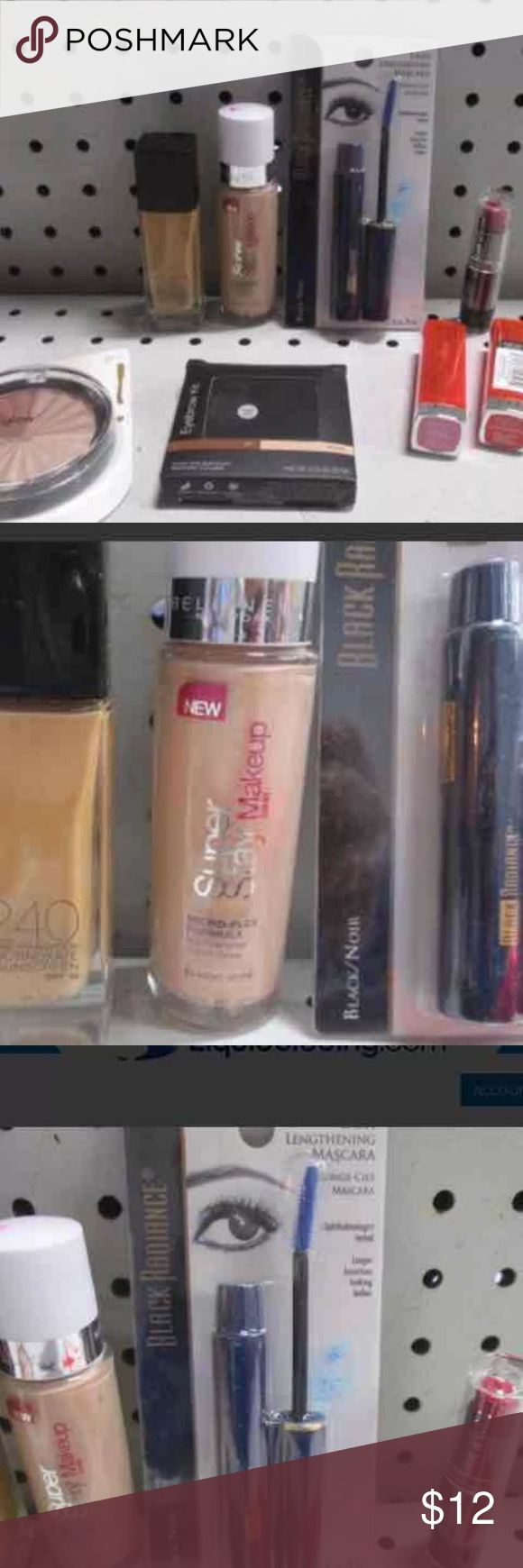 Lot of Misc Makeup NEW LOT DETAILS 8-Make-Up. Includes Black Radiance® lash lengthening mascara in black, e.l.f. Studio eyebrow kit, Wet n Wild lipstick in cherry picking and more. NEW. Makeup Mascara