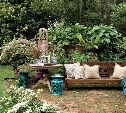 147 best asian garden images on pinterest japanese gardens asian antique indonesian daybed dutch colonial pedestal table is perfect in the garden workwithnaturefo