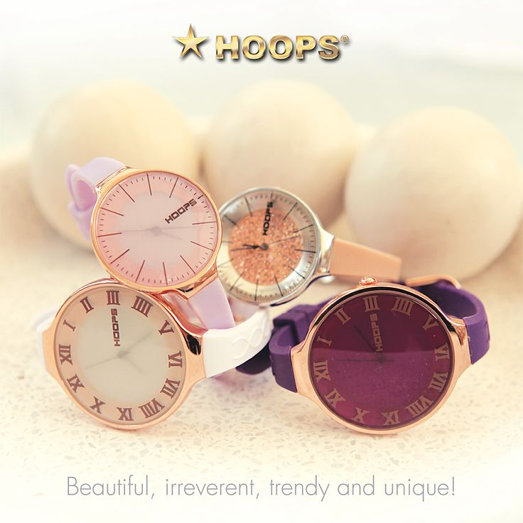 Hoops Watches - great colours! www.curiositamilano.it