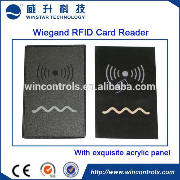 wiegand interface EM-ID rfid proximity card reader 125KHz door access control card reader   waterproof