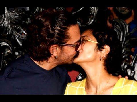 Aamir Khan Passionate Kiss to Kiran Rao During Birthday