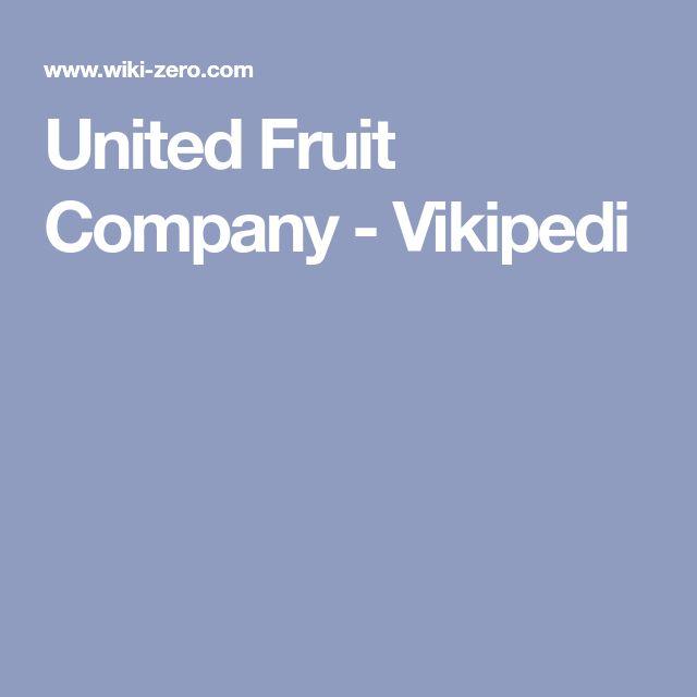 United Fruit Company - Vikipedi