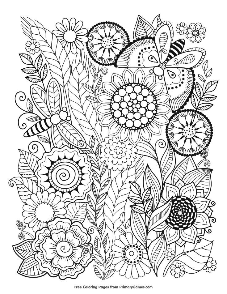 Free Printable Summer Coloring Pages For Use In Your Classroom And Home From Primarygames Print C Summer Coloring Pages Mandala Coloring Pages Coloring Pages