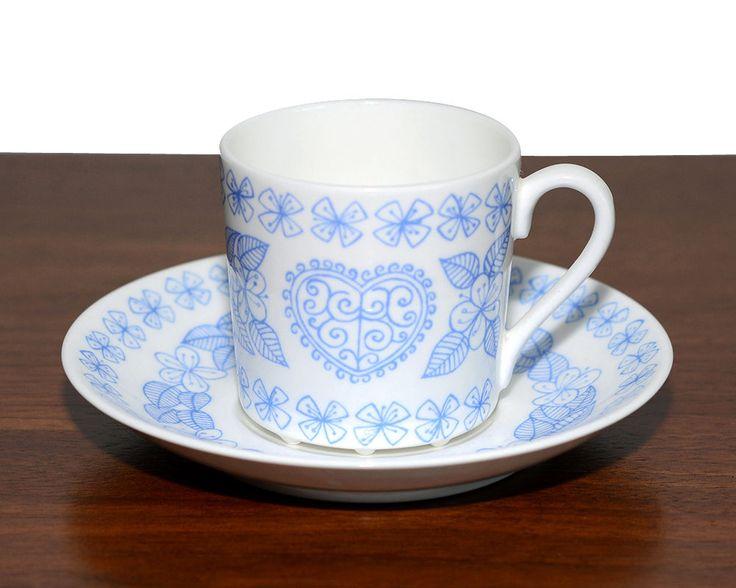 Stig Lindberg Gustavsberg Boro coffee cup and saucer