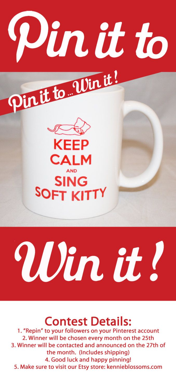 The Big Bang Theory Keep Calm and Sing Soft Kitty Mug. $15.00, via Etsy.