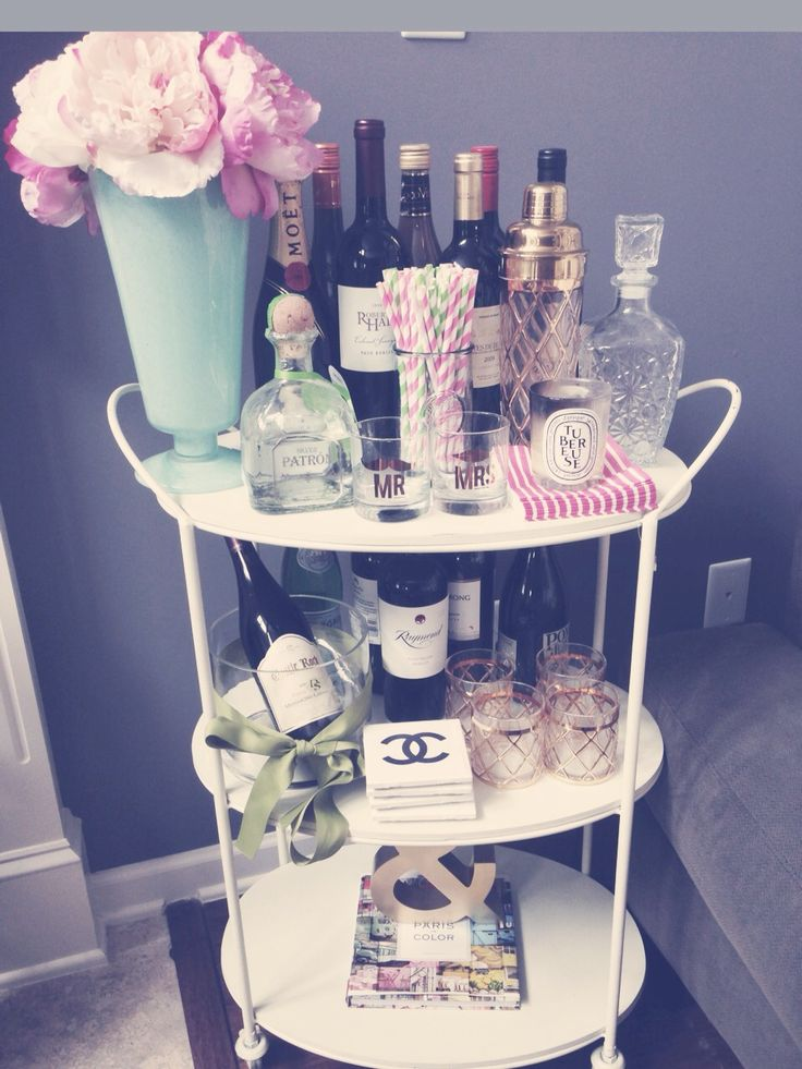 {bar cart styling }- my shaker and glasses yay!