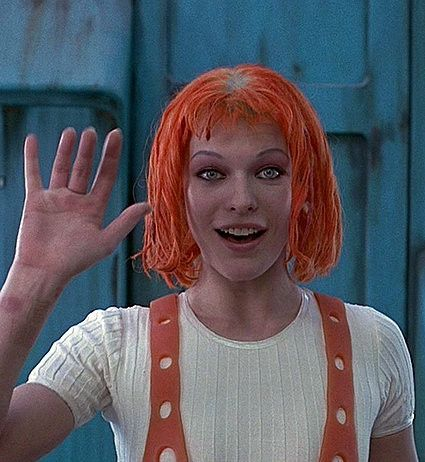 Image result for bowie leeloo orange hair
