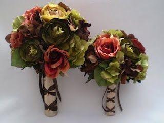 Beautiful Bridal: Fall Silk Wedding Bouquets