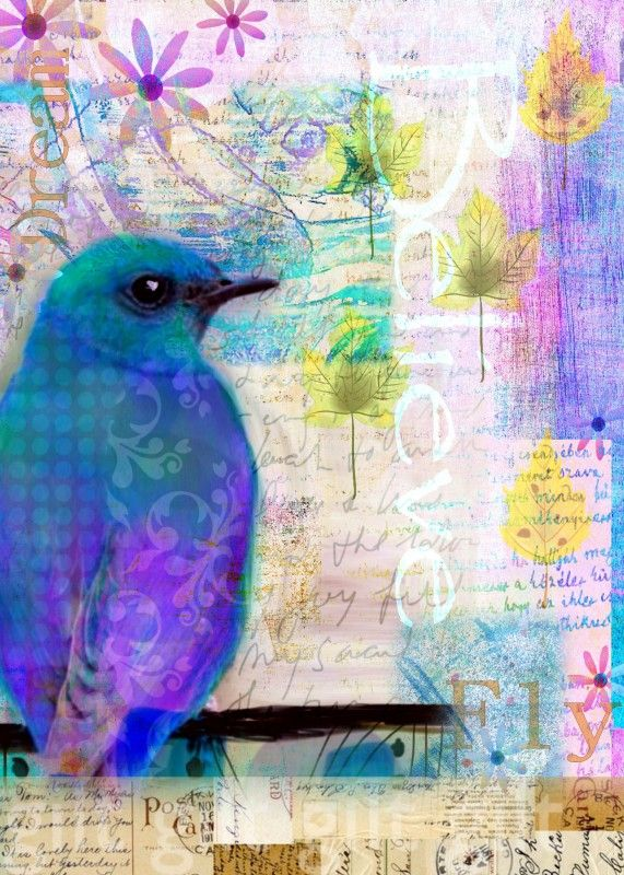 Art from Robin Meades' art journal - Love pattern in wing!!! How did they do that?