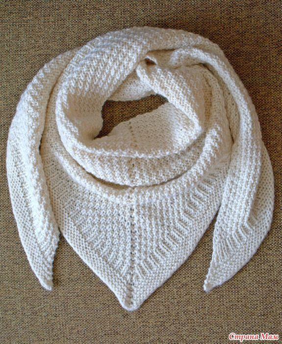 Привет, девочки-рукодельницы! По многочисленным просьбам предлагаю всем вместе связать вот такую мою снежную шаль.  Узоры все простые.