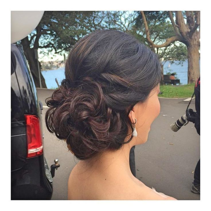 Perfect Prom Look Curly Bun Prom Updo, # Prom #Bun #Curly #Perfect #Pro …