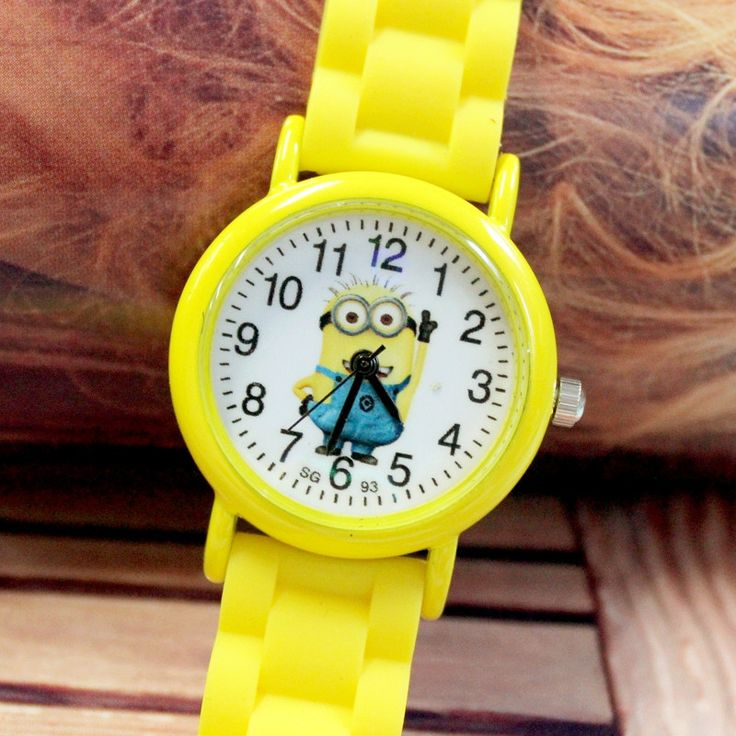 minions children watch 3D Eye Despicable Me minion Precious Milk Dad Cute Children Watches Cartoon Quartz Silicone Wrist Watch #>=#>=#>=#>=#> Click on the pin to check out discount price, color, size, shipping, etc. Save and like it!