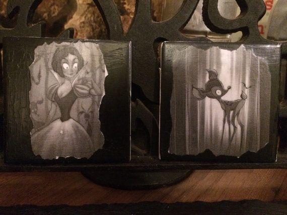 Griezelig donker gotische tim burton disney stijl drink coasters snow white…