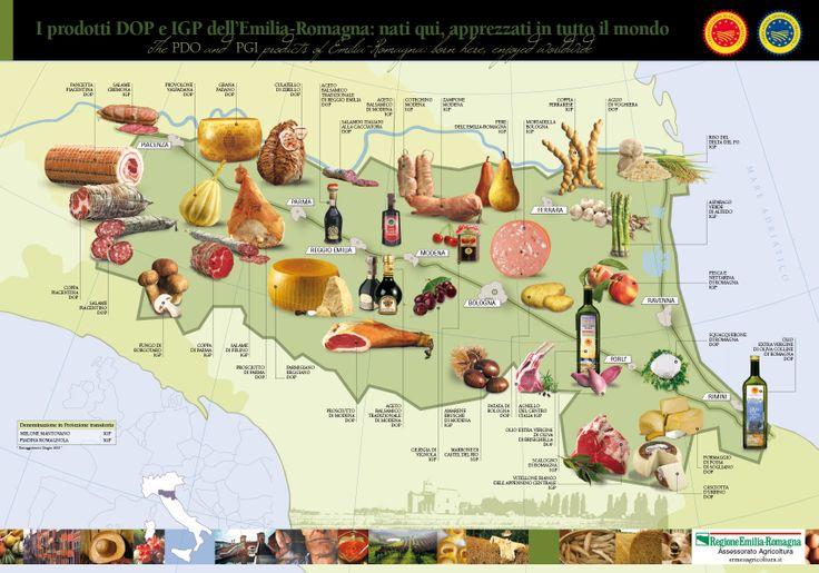 Mappa DOP Emilia Romagna