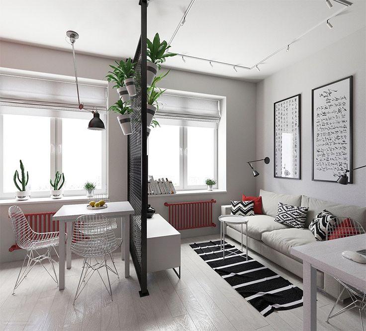 Boa ideia para delimitar os ambientes em um apartamento pequeno