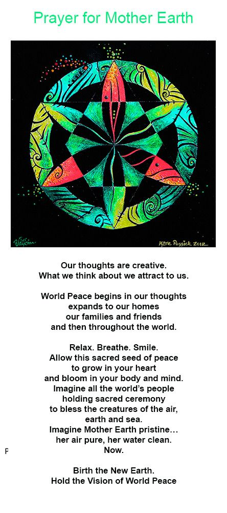 Image of Prayer For Mother Earth - Energy Mandala Customized For You