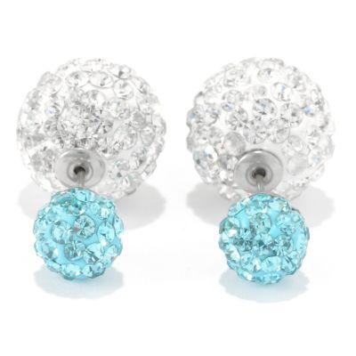 Elume™ Pave Rhinestone Double-Sided Stud Earrings