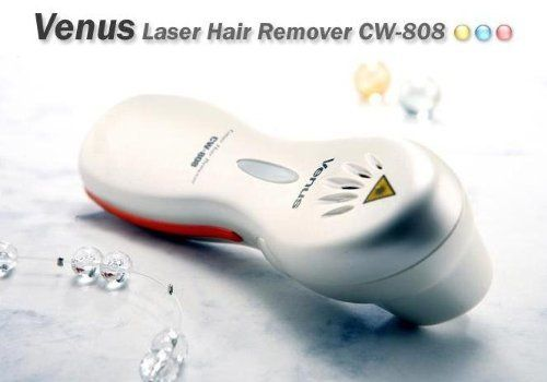 Venus Benus Permanent Hair Remover by Venus. $180.00. Venus laser hair remover in a box - 1 hair at a time + creams. Only a few sessions of 3 to 5 applications are required to achieve permanent hair removal. 1 year guarantee. An easier, more effective way to remove hair than other existing methods. Venus laser hair remover, permanent laser hair removal at home. The Venus CW-808 is a diode laser hair eliminator manufactured on the basis of scientific research an...