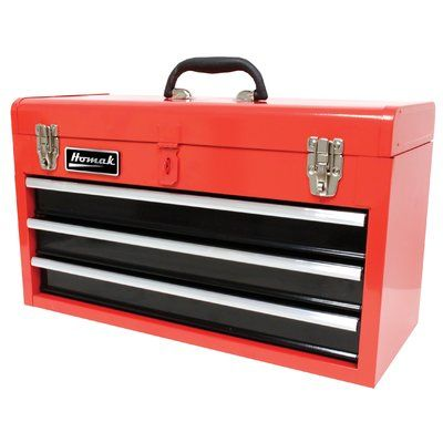 "Homak 20"" Tool Box Color: Black"