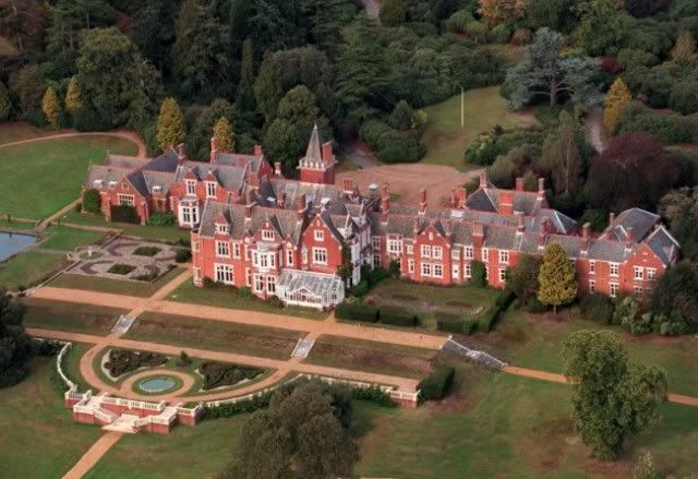 Aerial view of Bagshot Park - home to the Earl and Countess of Wessex (Edward and Sophie).