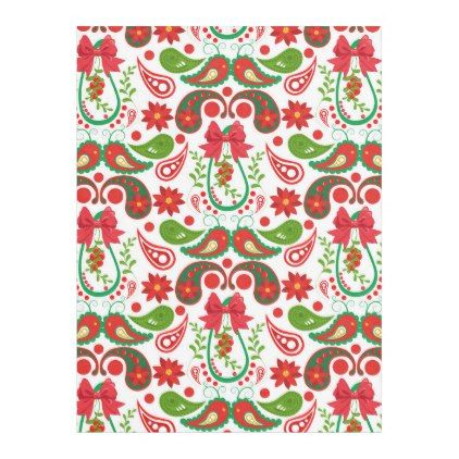 Christmas Paisley Bird Red and Green Blanket - home gifts ideas decor special unique custom individual customized individualized