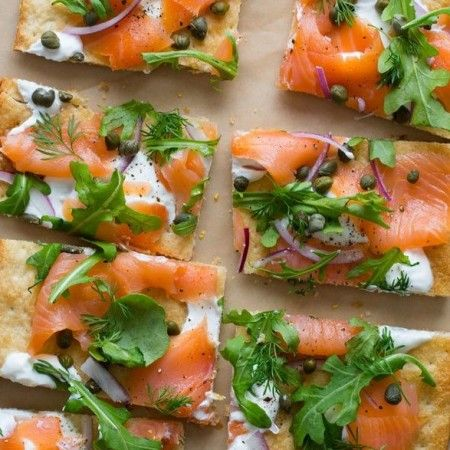 Smoked Salmon Pizza? Yes please!!!!