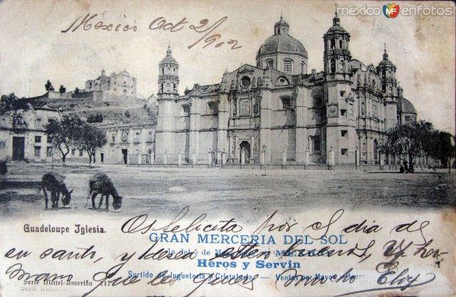 Fotos de Ciudad de México, Distrito Federal, México:   La Villa de Guadalupe  Hacia 1902