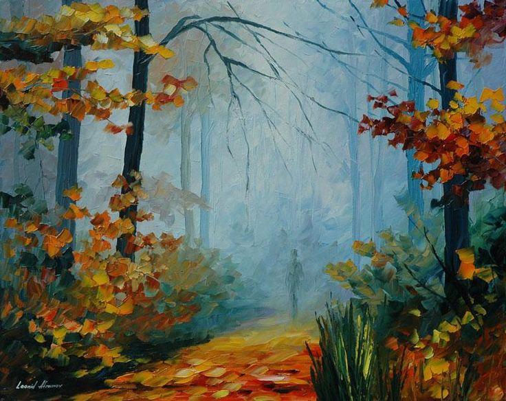 Осенний туман - картина маслом художника Леонида Афремова