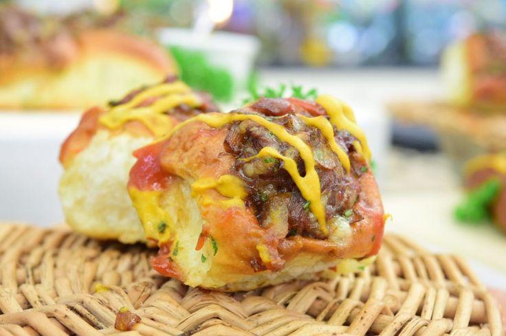 Brioche Recheado com Carne Moída | Pães e salgados | Mais Você - Receitas Gshow
