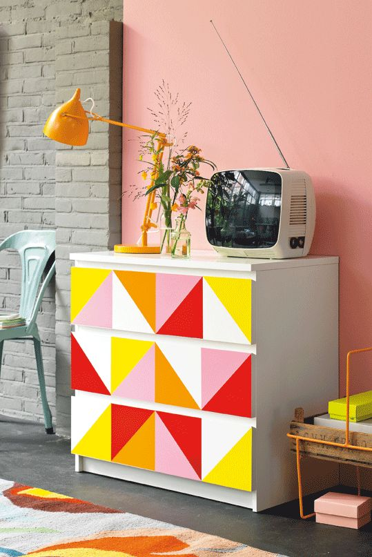 Stylist Kim van Rossenberg transforms an IKEA MALM dresser for 101 Woonideeen. Via poppytalk.blogspot.ca