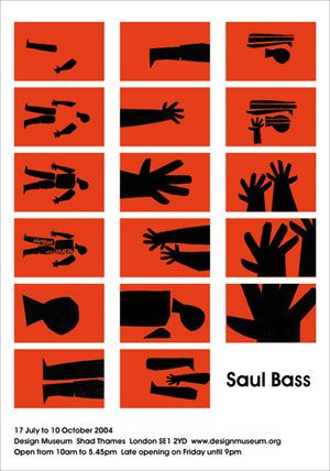 Saul Bass limited edition exhibition poster