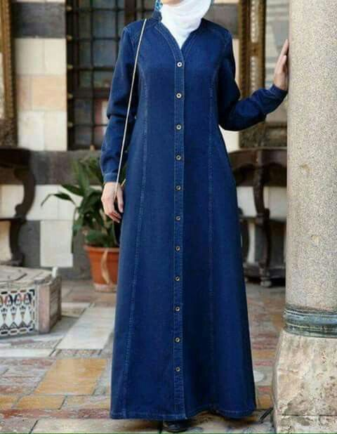 41 Best Denim Images On Pinterest Hijab Fashion Hijab Styles And Islamic Clothing