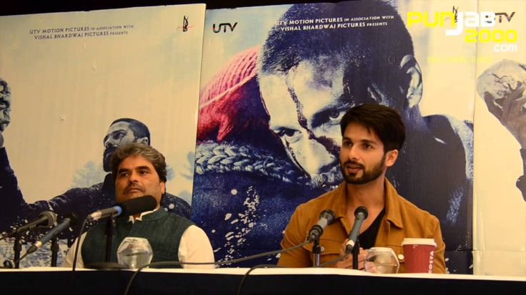"""Bollywood actor Shahid Kapoor and director & producder Vishal Bhardwaj in conversation on """"Haider"""" in the UK"""