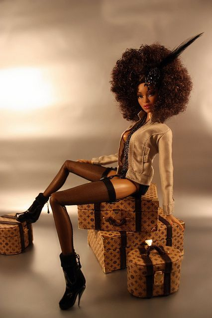 10 Best Black Dolls With Natural Hair Images On Pinterest Black Barbie Beautiful Dolls And