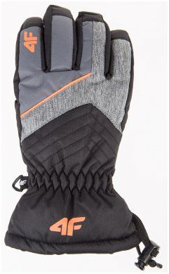Rękawice narciarskie chłopięce JREM001 - szary melanż