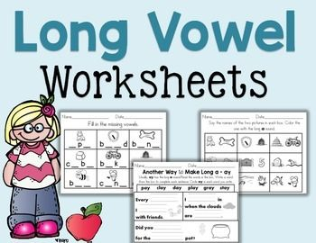 LONG VOWEL Worksheets, 21 pages.Great as homework, early finishers, review and homework. These long vowel worksheets will help engage your students in long vowel words.