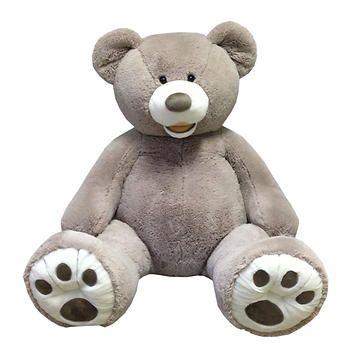 "53"" Sitting Plush Bear - Grey"