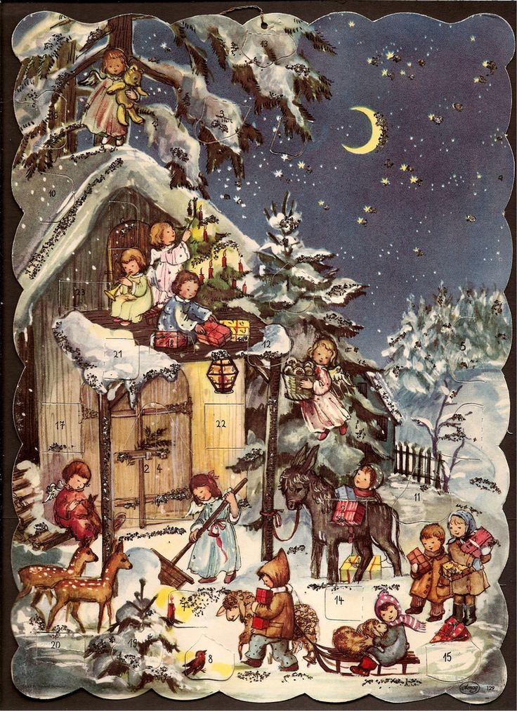 ADVENT CALENDAR | VINTAGE ADVENT CALENDER Printed in West Ge… | Jany Schindler | Flickr