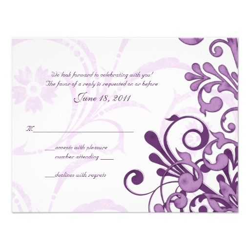 ReviewPurple and White Abstract Floral Reply Card Personalized InvitationWe provide you all shopping site and all informations in our go to store link. You will see low prices on