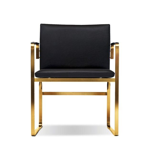 Hans J. Wegner CH 111 Stol Läder Gold Edition - danskdesign.nu