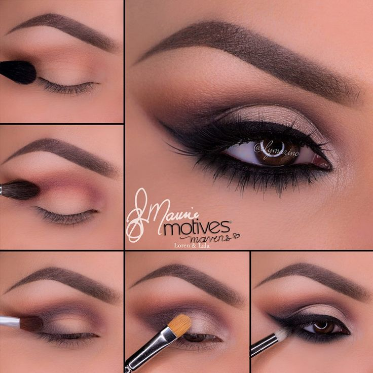 """Motives Cosmetics Neutral Eye Makeup Tutorial-Motives Cosmetics Neutral Eye Makeup Tutorial Start by applying """"Native"""" above the crease! This will be our transition color. Blend """"Bordeaux"""" in the crease and slightly above. Taking """"Aubergine"""" blend in the outer V and slightly in the crease.Pat """"Shell"""" onto the lid and in the inner corner of the eye as a highlight.Apply your liner using Motives Gel Eyeliner in Little..."""