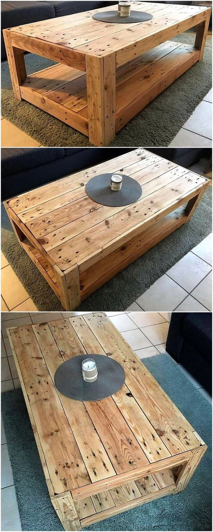 Coffee Table Made With Reclaimed Pallet Wood Hit The Google Link For More Pics Coffee Table Out Of Pallets Wood Pallet Projects Coffee Table Made From Pallets [ 2606 x 2822 Pixel ]