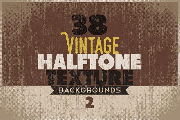 Vintage Halftone Texture/Backgrounds by DesignWorkz on @creativemarket