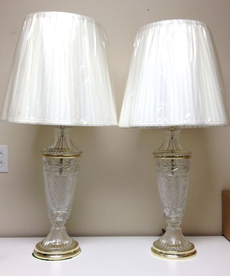 29 best crystal lead lamps images on pinterest led lamp table vintage pair beautiful lead crystal glass table lamps waterford style aloadofball Images