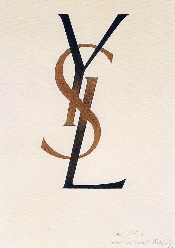 YSL Logo by Adolphe Jean-Marie Mouron (AKA Cassandre).