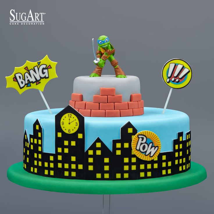 Birthday Cake:Sugarpaste, #ninjaturtles #ninja ,Sugar chocolate printed plaques,Fondant Imagination.If you wish to be a Ninja..you just need this ninja turtle cake:D. Visit our website and see our entire range of products: www.sugart.com