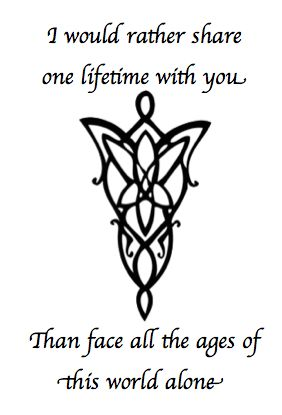MY NEW TATTOO IDEA! <3 <3 #LOTR #ARWEN #EVENSTAR