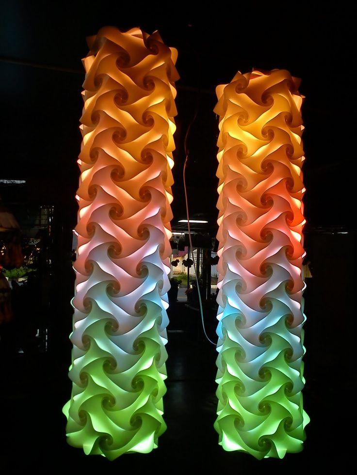 Imagine Lights Interlocking Recycled Polypropylene Lamps