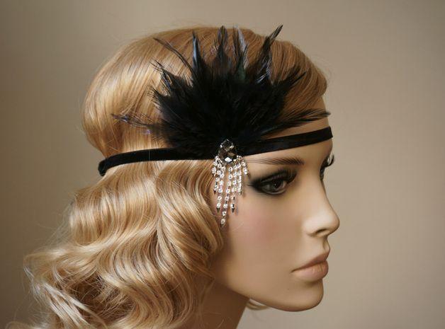Haarband 20er Jahre Flapper, Haarschmuck Strass